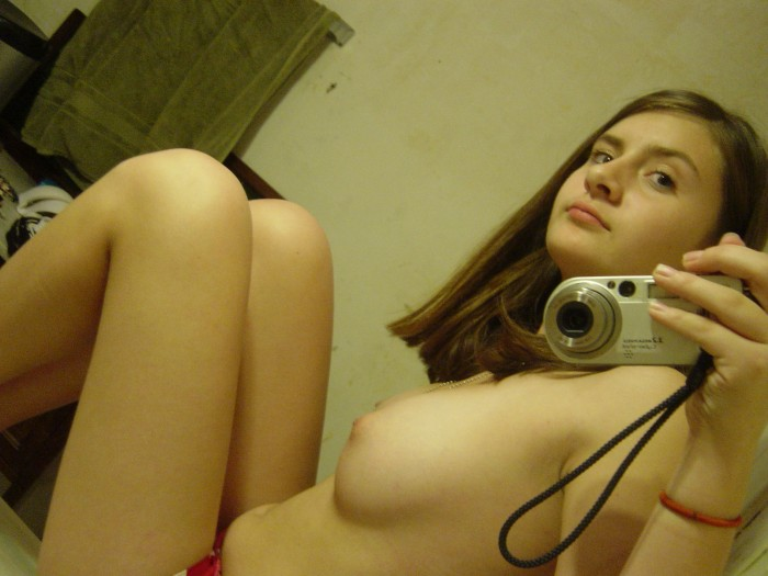 Hot Teen Brunette Selfies