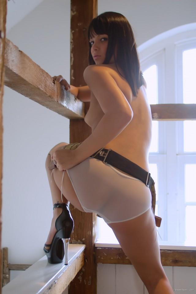 Sasha Apron - Hot Teen Brunette