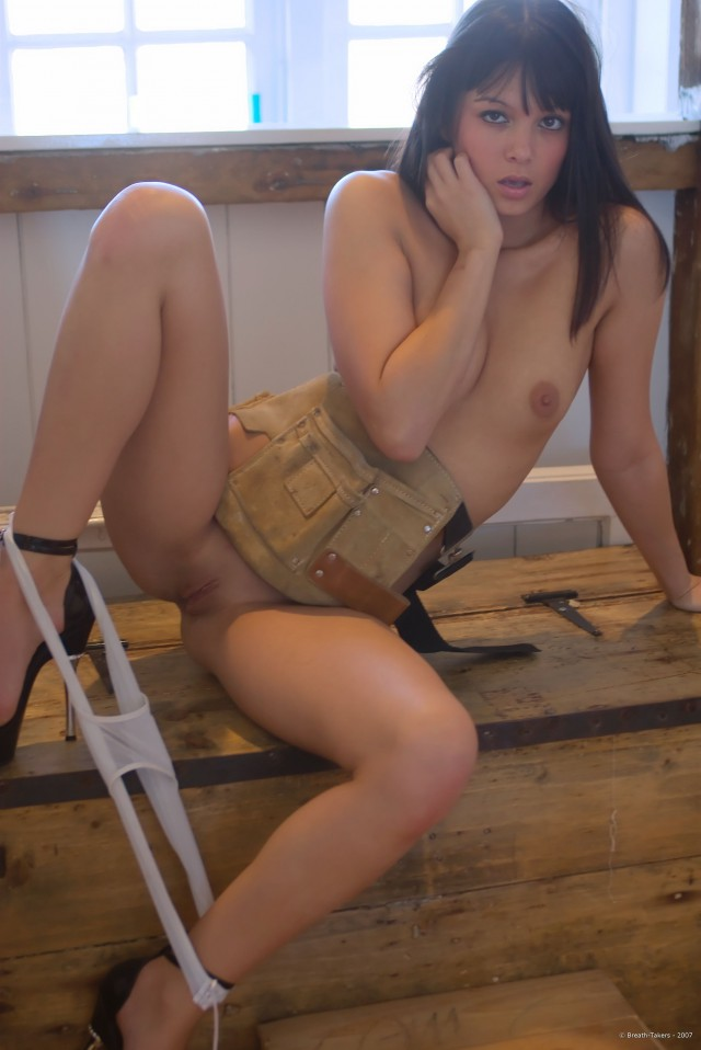 Sasha Apron - Hot Teen Brunette
