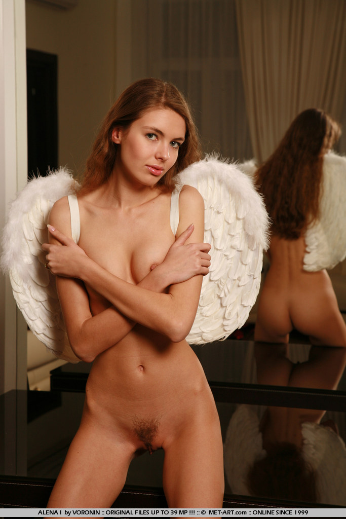Beautiful Redhead Girl Alena I as an Angel