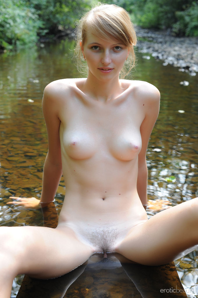 Sexy Blonde Eriska A in Down Stream by Paramonov