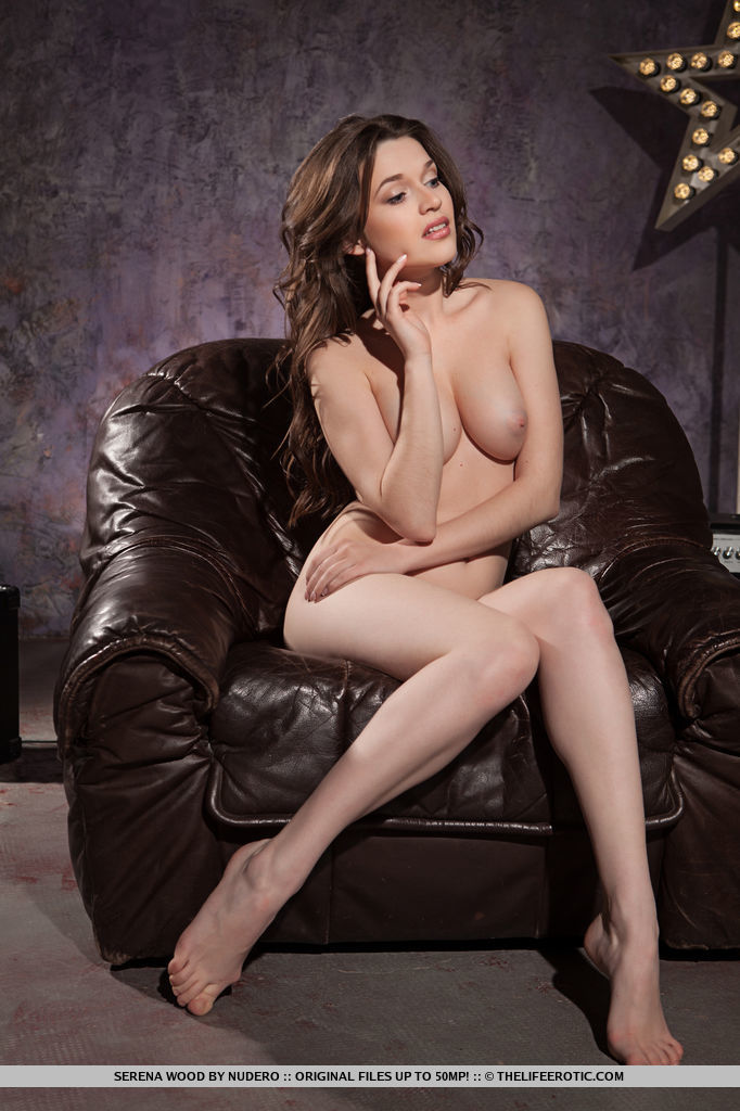 Hot Brunette Serena Wood in Laid Back by Nudero