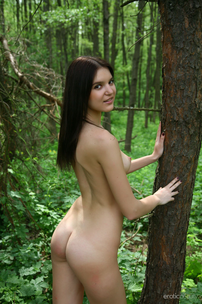 Sexy Snezhana Among The Trees