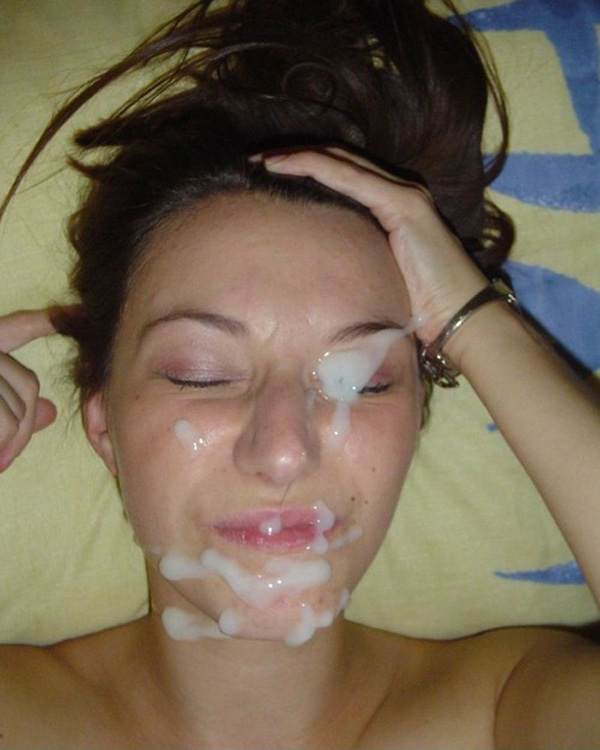 Amateur Teen Brunette  Cum On Face